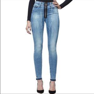 Good American Good Waist Exposed Zipper Jeans 16